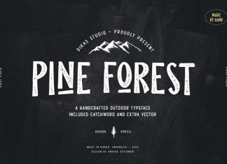 Pine Forest - Outdoor Typeface Font