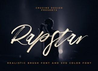 Rapstar Brush & SVG Font