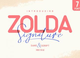 Zolda Script + Sans Family