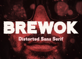 Brewok Distorted Font