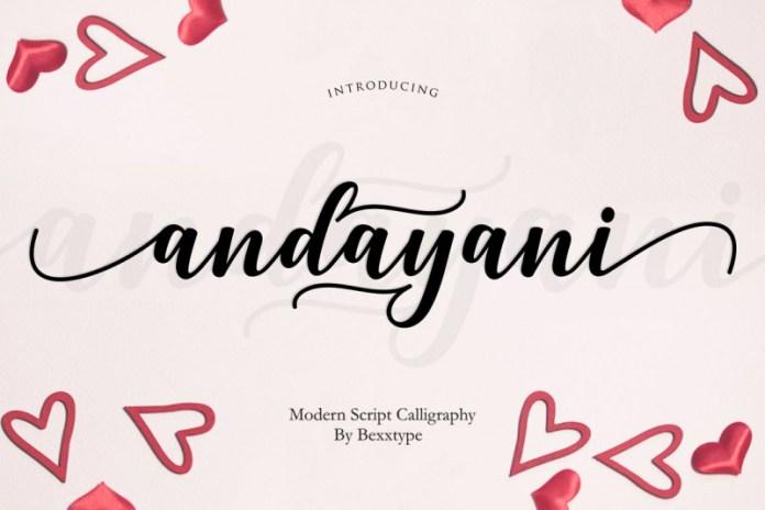 Andayani Script   Specials Valentine