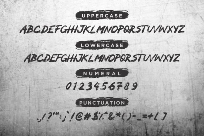 MOCKER - A Brush Font
