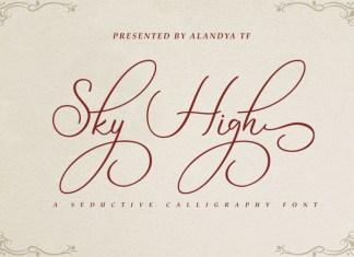Sky High Script Font