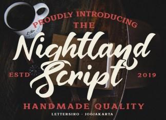 Nightland Script Font