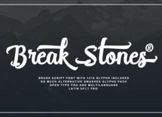 Break Stones Font