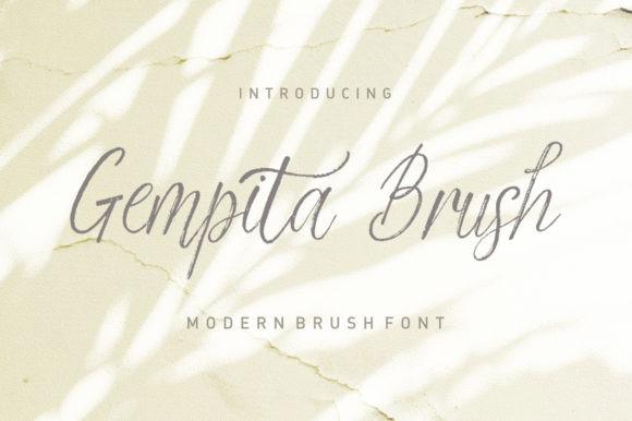 Gempita Brush Font