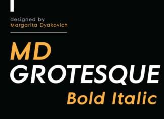 MD Grotesque Bold Italic