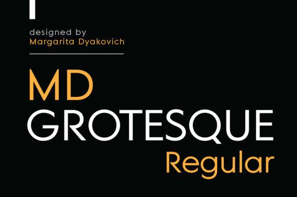 MD Grotesque Regular Font