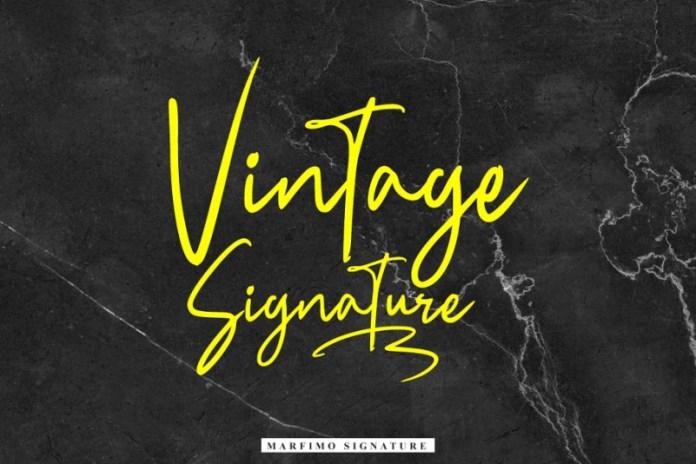 NEW   Marfimo Signature Font