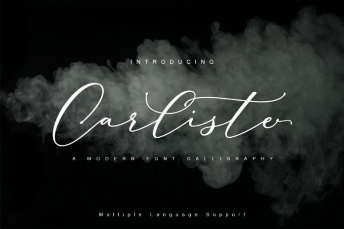 Carliste Script font