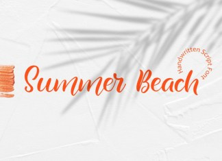 Summer Beach Handwritting Font