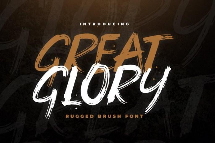 Great Glory Brush Font