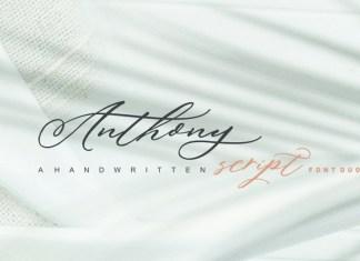 Anthony Script Font