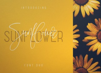 Sunflower - Font Duo Font