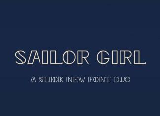 Sailor Girl Font Duo Font