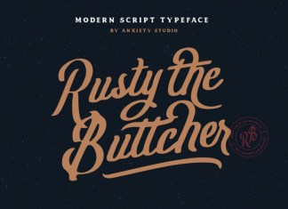 Rusty The Buttcher Font