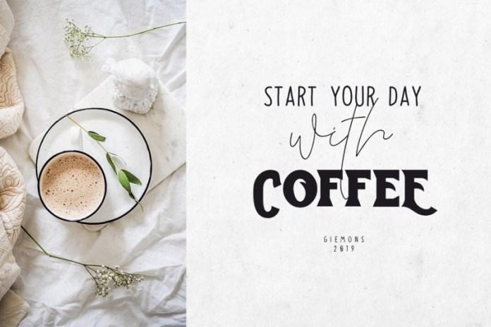 Toast Bread Coffee Typeface