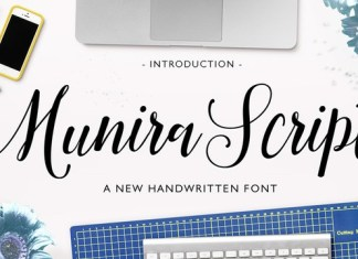 Munira Script Font