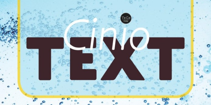 Cinio Text Font Family