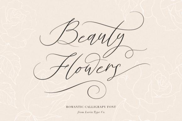 Beauty Flowers font