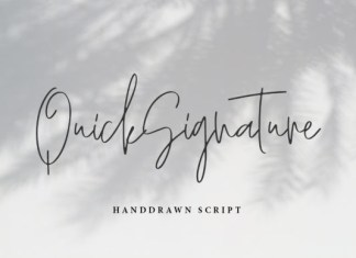 Quick Signature Font
