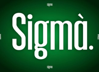 Sigma Display FontRegular Font