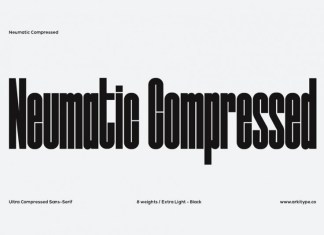Neumatic Compressed Font