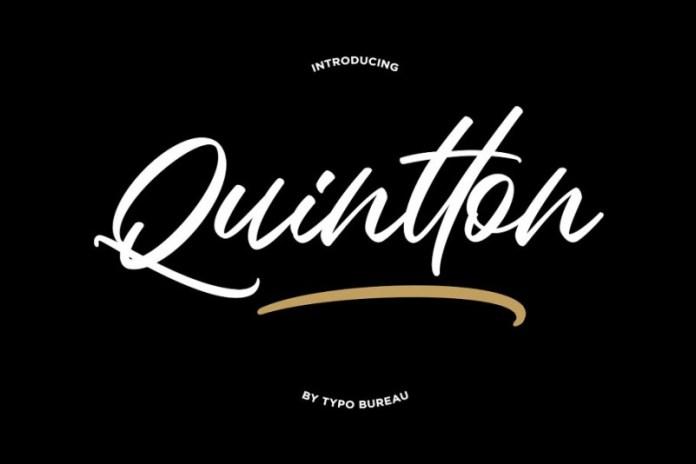 Quintton - Script Font