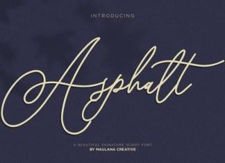 Asphalt Signature Font