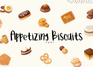 Appetizing Biscuits Font