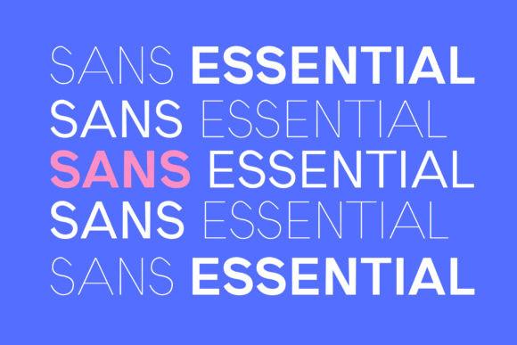 Sans Essential Font