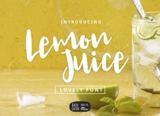 Lemon Juice Font