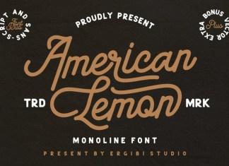American Lemon Font