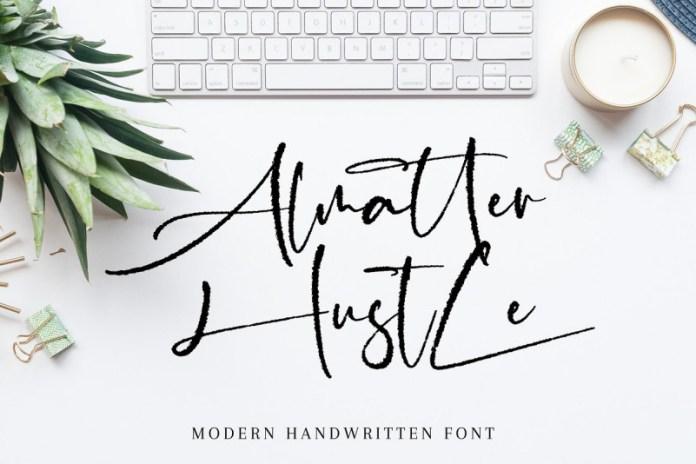 Almatter Hustle Font