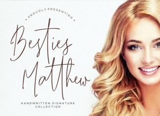 Besties Matthew Signature Font
