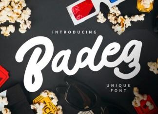 Badeg Font