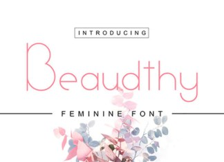 Beaudthy Font