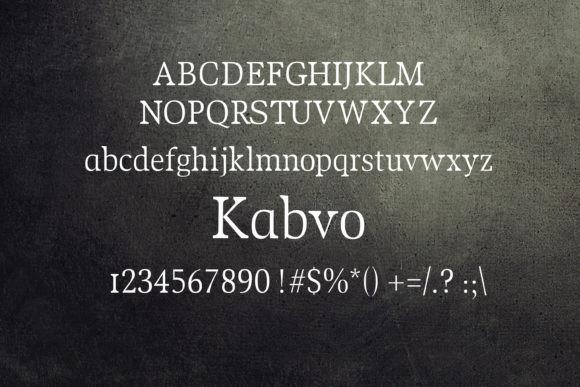 Kabvo Font