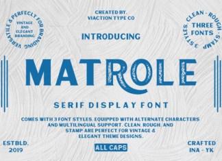 Matrole Font