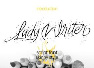 Lady Writer Skinny Font