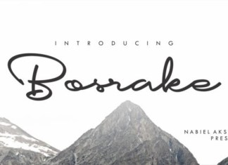 Bosrake Font