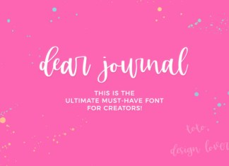 Dear Journal Font