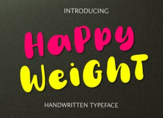 Happy Weight Font