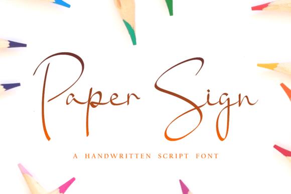 Paper Sign Font