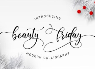 Beauty Friday Font