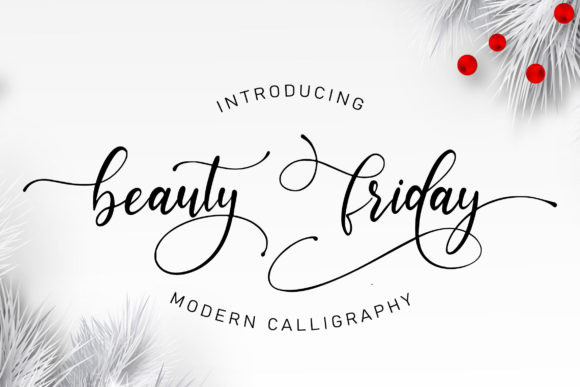 Beauty Friday Font