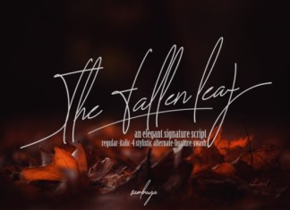 The Fallen Leaf Font