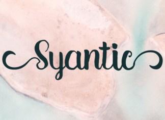 Syantic Font