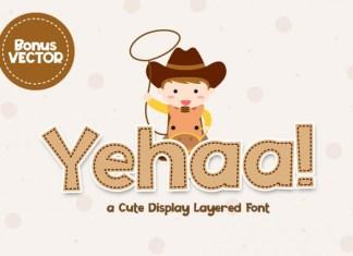 Yehaa! Layered Font