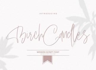 Birch Candles Font